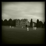 The scene at Jesus College cricket ground